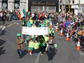 Marching in Paddys Day Parade
